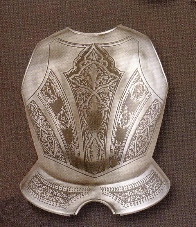 Peto medieval grabado