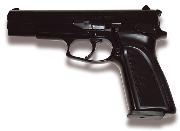 Pistola Magnum copia exacta en peso y medidas