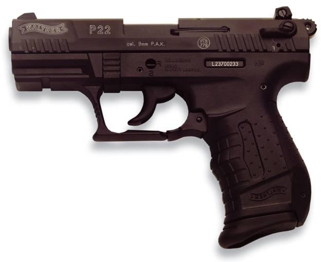 Pistola Walther P22 de gran seguridad