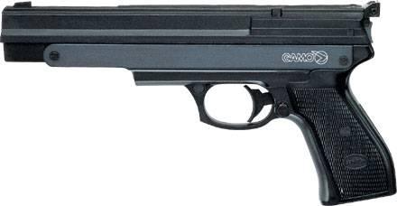 Pistola Gamo de aire comprimido pr-45. Posee una velocidad aproximada de 120 m/s
