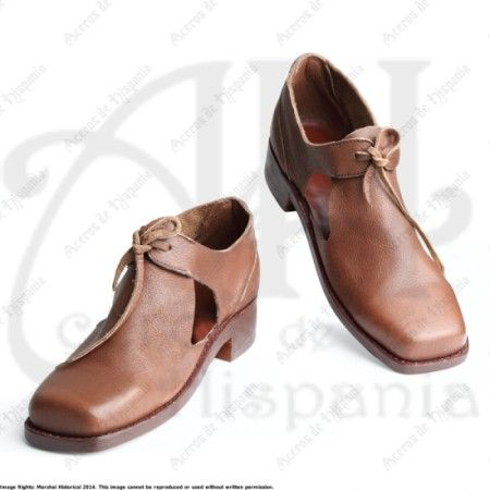 ZAPATOS DEL SIGLO XVII PARA RECREACION MEDIEVAL MARSHALL HISTORICAL
