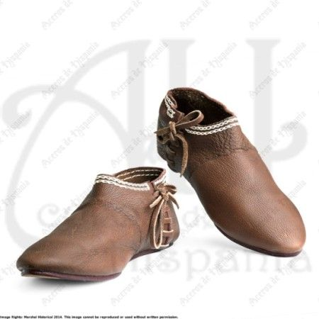 ZAPATOS DEL SIGLO XIV PARA RECREACION MEDIEVAL MARSHALL HISTORICAL