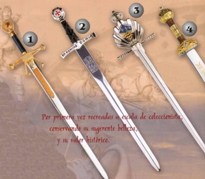 Mini espada Templarios