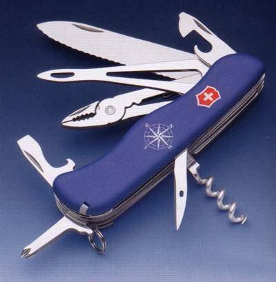 Navajas Victorinox para el marinero, cuchillo Skipper del capitán.