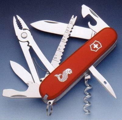 Navajas multiusos Victorinox Angler, cuchillos para el percador.