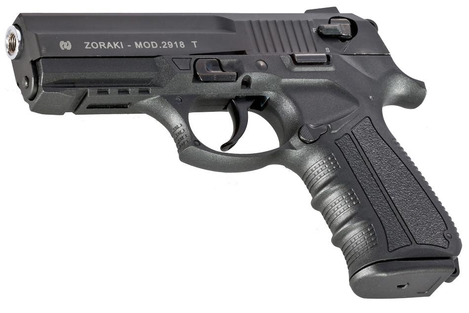 Pistola de fogueo Zoraki 2918 del calibre 9mm en color Negro