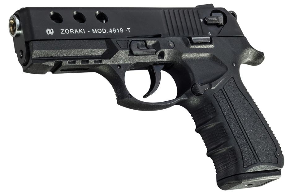 4918 Zoraki Black Blank Pistol 9mm MEZ18