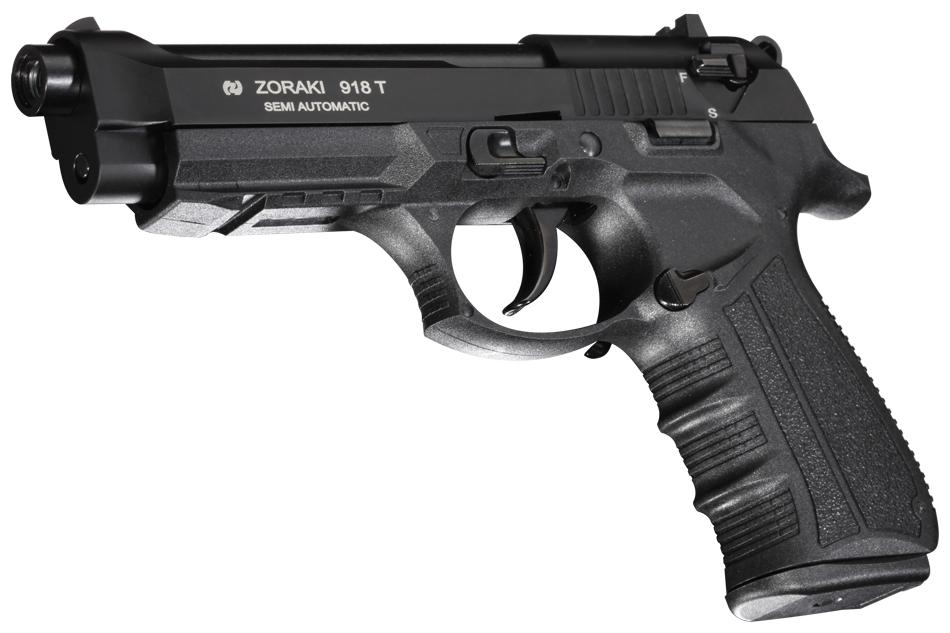 Pistola de fogueo Zoraki 918 del calibre 9mm en color Negro