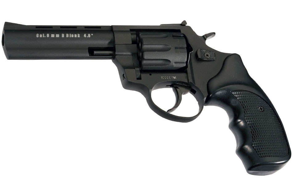 Revólver detonador Zoraki R1 4.5 pulgadas del calibre 380/9mm de color negro
