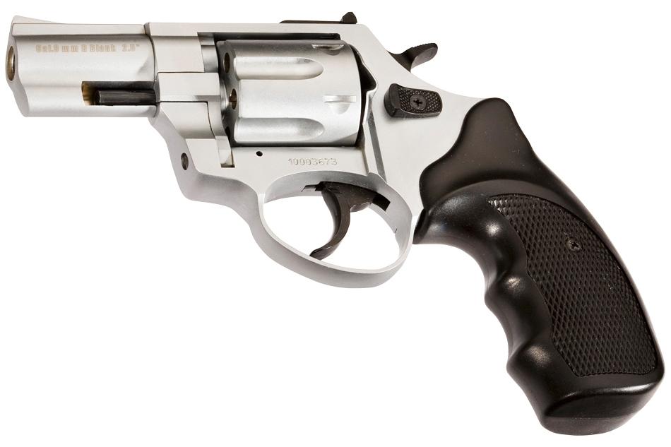 Revólver detonador Zoraki R1 2.5 pulgadas del calibre 380/9mm de color cromo mate
