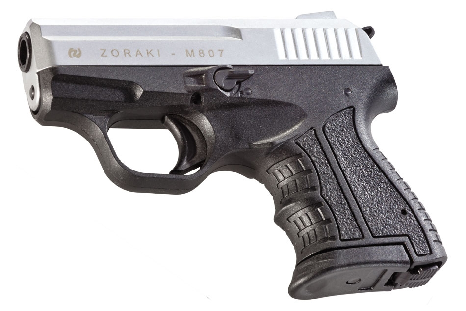 Pistola de fogueo Zoraki M807 del calibre 8mm Cromo