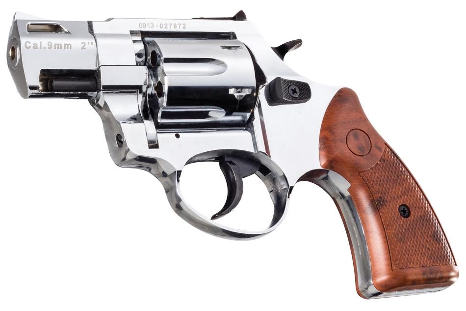 R2 2 inch 380/9mm matte chrome Zoraki firing revolver MEZ23