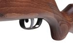 Detail of the wooden head of the Gamo Hunter 440-AS IGT compressed air rifle