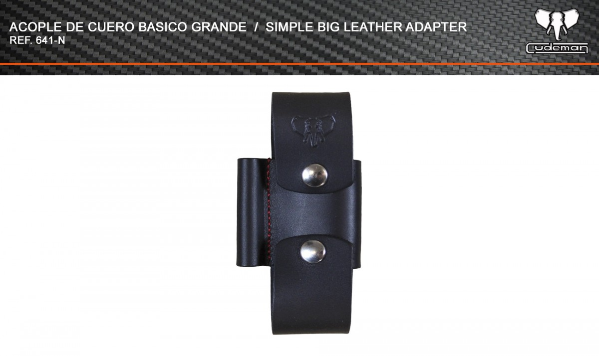Large basic leather coupling reference 641-N Cudeman