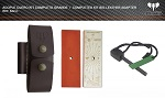 Leather coupling Large complete kit reference 642-C Cudeman