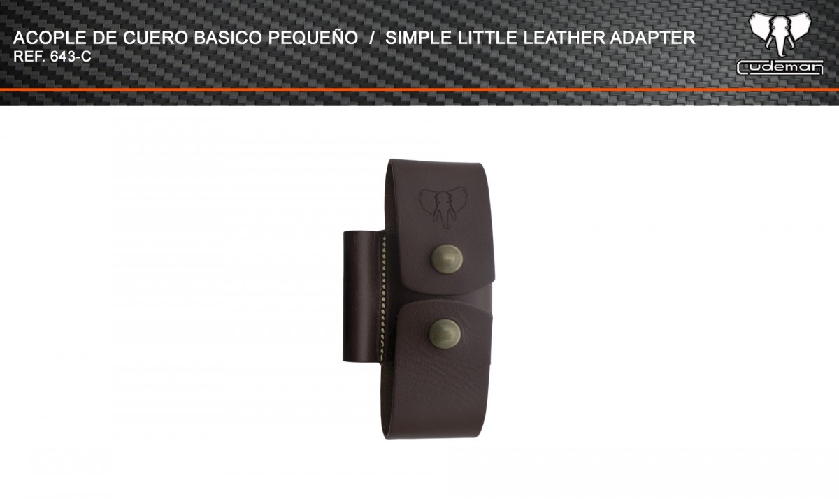 Small basic leather coupling reference 643-C Cudeman