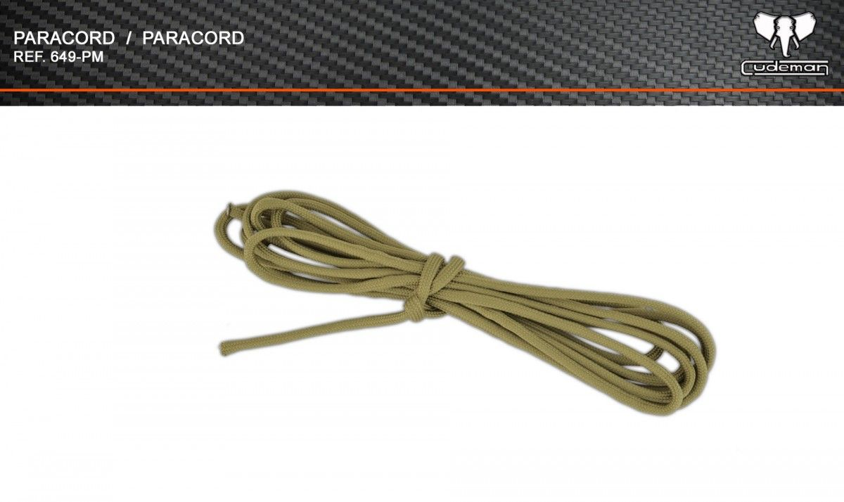 Paracord sand color reference 649-PM Cudeman