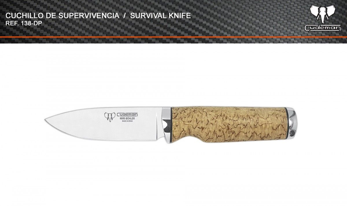 Cuchillo táctico de supervivencia referencia 138-DP Cudeman