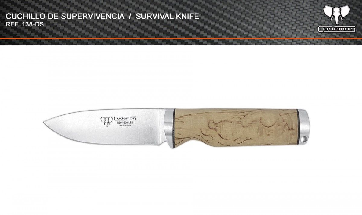 Cuchillo táctico de supervivencia referencia 138-DS Cudeman