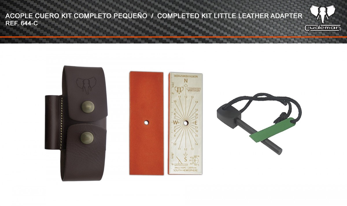 Leather coupling Small complete kit reference 644-C Cudeman