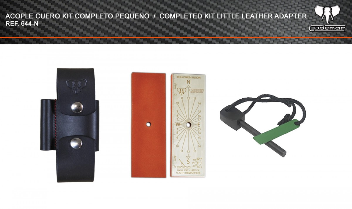 Leather coupling Small complete kit reference 644-N Cudeman