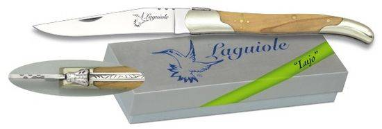 Pocket knife LAGUILE Nickel silver/Olive 9 cm