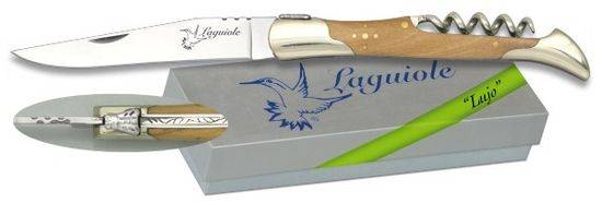 Pocket knife LAGUIOLE Nickel silver/Olive 9.5
