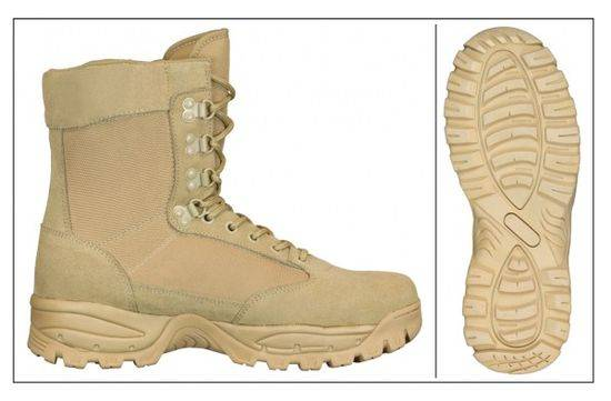 bota barbaric coyote coolmax. no zipper