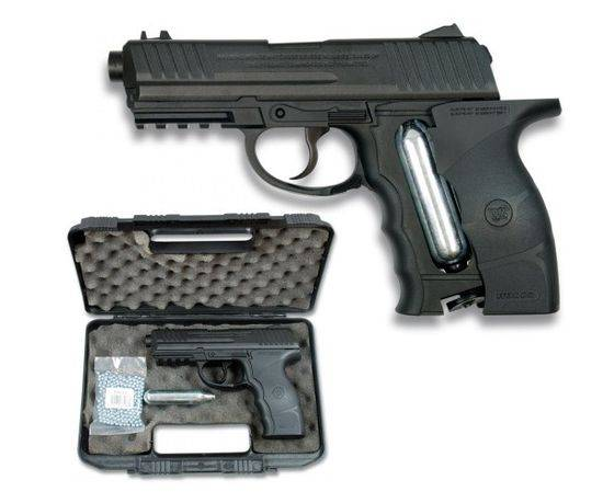 CO2 Gun Cal. 4.5 mm (Briefcase+CO2+bolas)