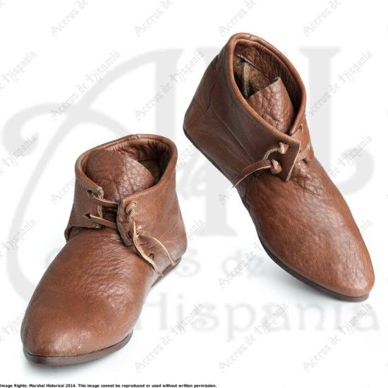 BOTAS CON CORDONES PARA RECREACION MEDIEVAL MARSHALL HISTORICAL