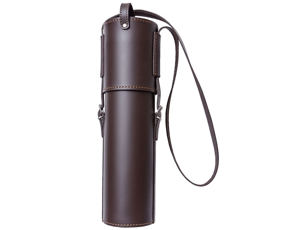 RIFLESCOPE LEATHER POUCH 35 CM TOTAL LENGTH AND 8 CM DIAMETER