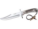 STAG HORN BOWIE KNIFE 16 CM STAINLESS STEEL BLADE LENGTH.