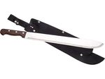 MACHETE WITH WOOD HANDLE AND BLADE LENGTH 45 CM.