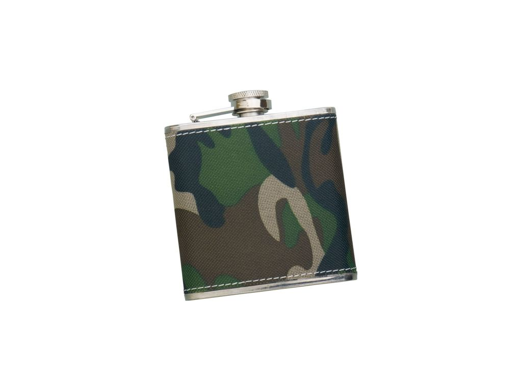 SHEATED WITH CAMO FABRIK 5 OZ STAINLESS STEEL FLASK