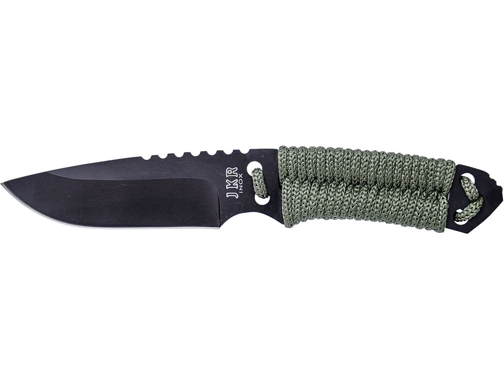 PARACORD 10 CM FIXED BLADE FULL TANG SURVIVAL KNIFE