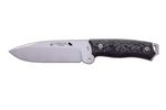 J&V Knife Model CHACAL MAKRO BLACK MICARTA NYLON SHEATH