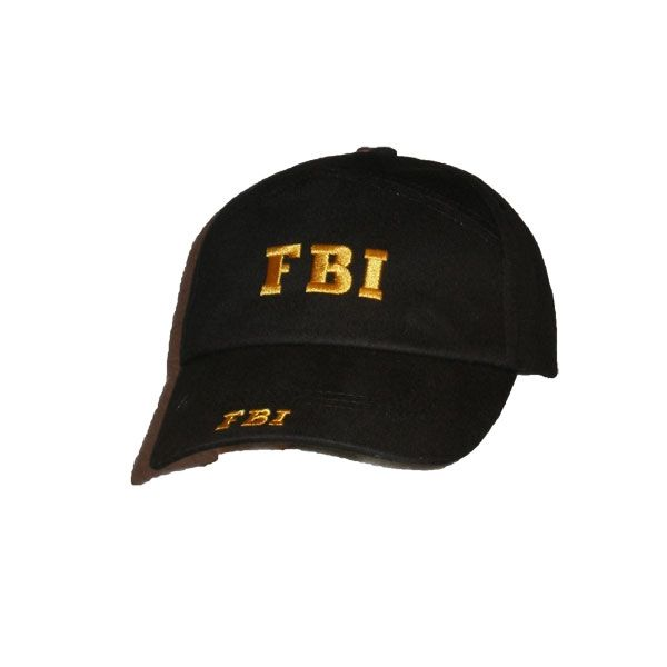 GORRA FBI BORDADO AMARILLO