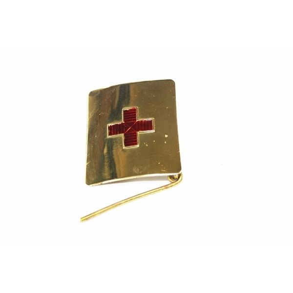 METALLIC BUCKLE RED CROSS