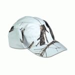 WHITE HAT WITH CAMOUFLAGE EARMUFFS
