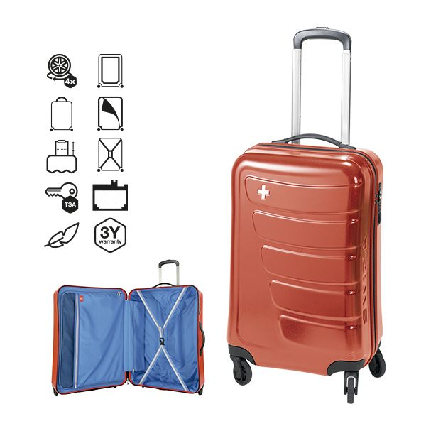 JUSTUS TROLLEY 105 LITRE RED SWIZA