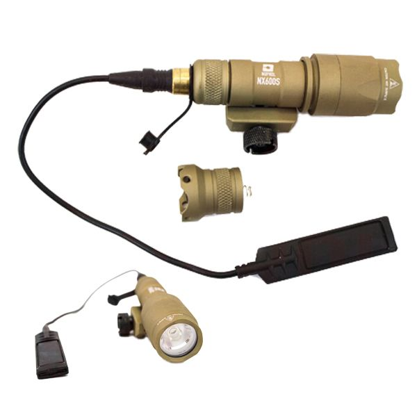 FLASHLIGHT TACTICAL TAN NUPROL NX600S