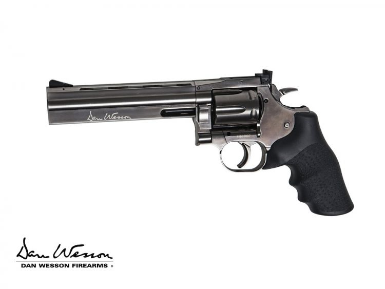 "Revolver Dan Wesson 715 6"" Steel Grey,  6 mm Co2"
