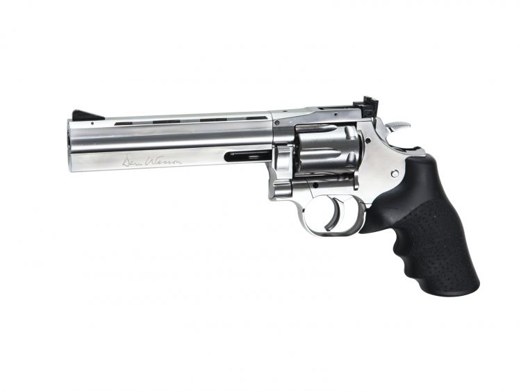 "Revolver Dan Wesson 715 6"" Silver - 4,5 mm Co2 Bbs Acero"