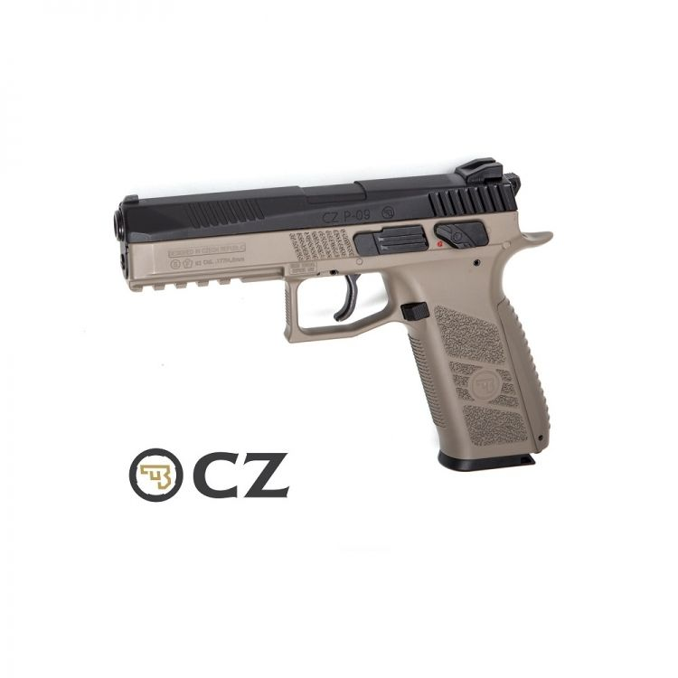 Pistola CZ P-09 Duty FDE Duotone Blowback - 4,5 mm Co2 Balines