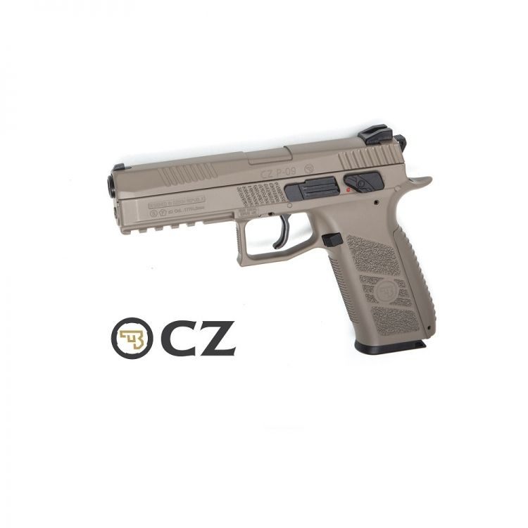 Pistola CZ P-09 Duty FDE Blowback - 4,5 mm Co2 Balines