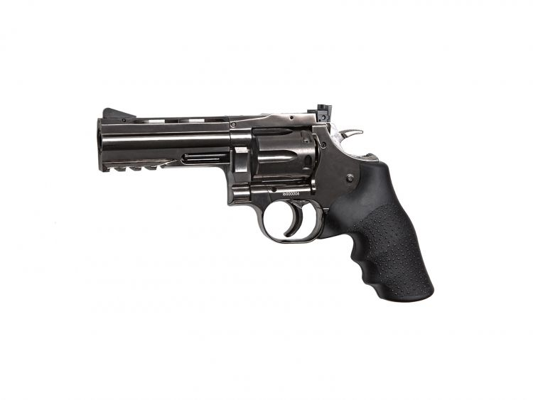 "Revolver Dan Wesson 715, 4"" Steel Grey - 4,5 mm Co2 Bbs Acero"