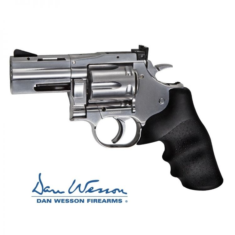 "Revolver Dan Wesson 715, 2,5"" Silver - 4,5 mm Co2 Bbs Acero"