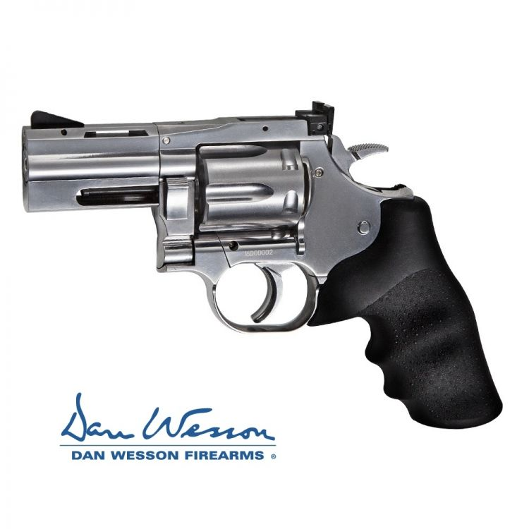 "Revolver Dan Wesson 715, 2,5"" Silver - 4,5 mm Co2 Balines"