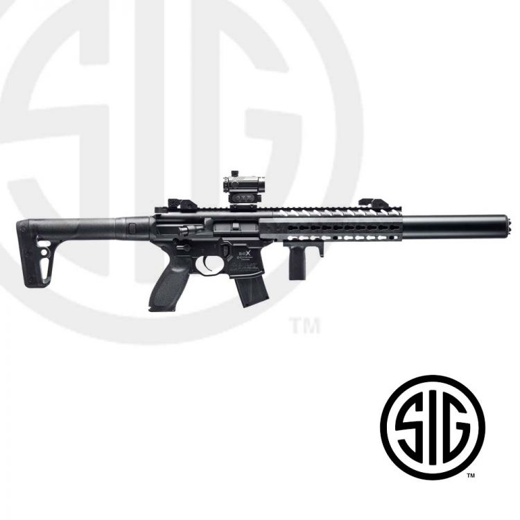 Subfusil Sig Sauer MCX ASP Black + Red Dot Co2 - 4,5 Balines