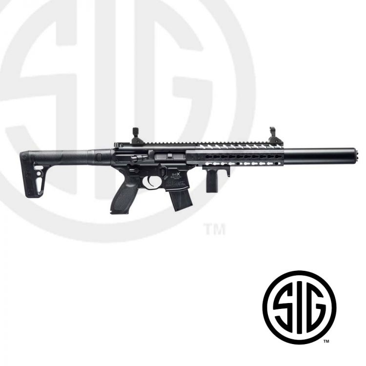 Submachine Sig Sauer MCX ASP Black Co2 - 4,5 pellets